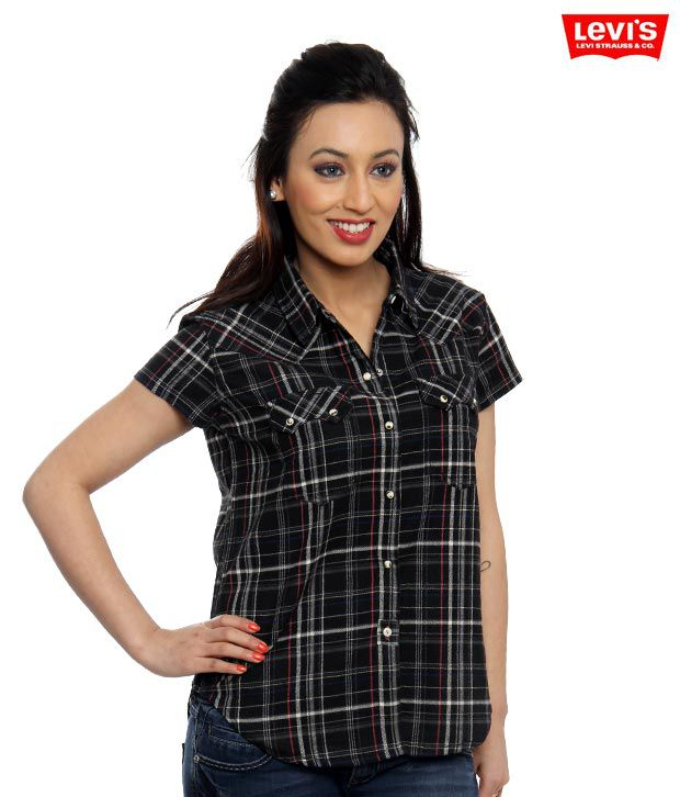 Levi's Black-White Checkered Shirt
