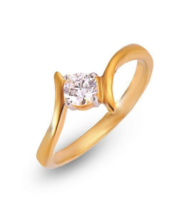 Shashvat Jewels 9KT Beautiful Promise Solitaire Ring