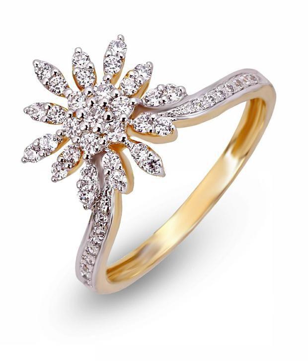 Shashvat Jewels 18KT Rising Floral Pattern Ring