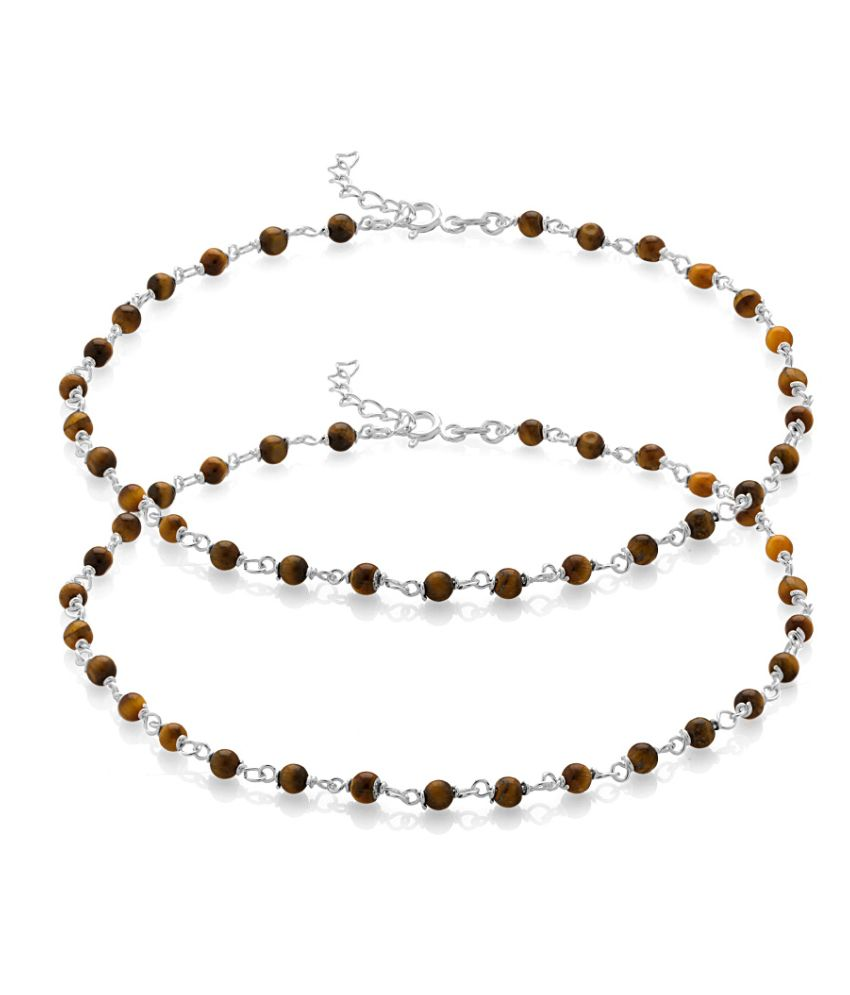 Voylla Brown Beads Chained up in 92.5 Silver