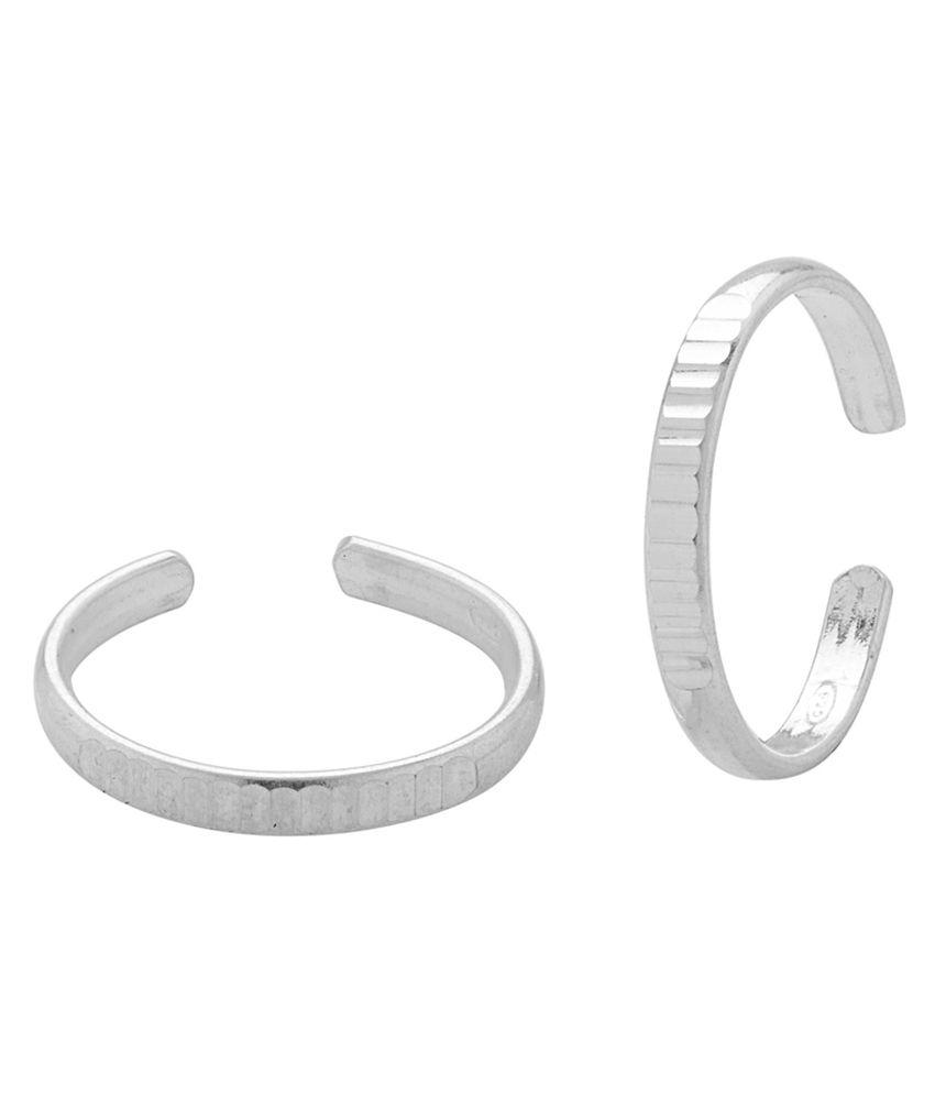 Voylla Sober 92.5 Silver Toe Rings