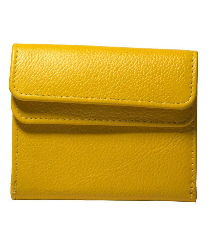 BuckleUp Yellow Leather Designer Women