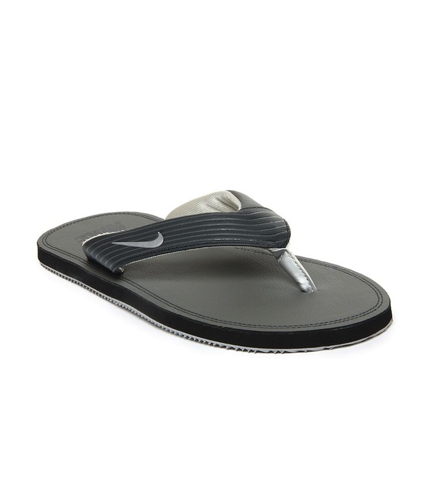 new product 0454e 136e5 Nike Chroma Thong III Grey & Black Flip Flops Price in India ...