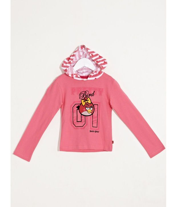 ANGRY BIRDS Fashionable Hoody Top For Infant Girls