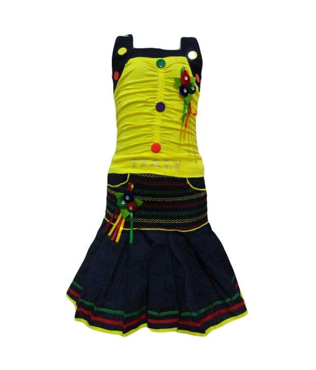 Preety Girl-Cute and Stylish Yellow Frock For Infant Girls