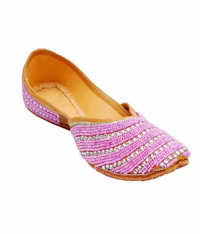 Saashiwear Pink Jutti