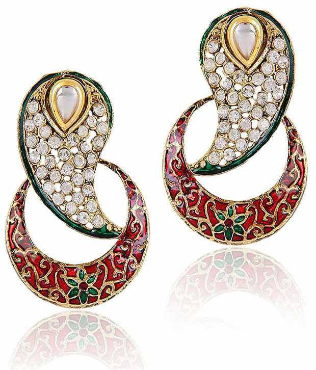 ShinningDiva Inverted Paisley Earrings