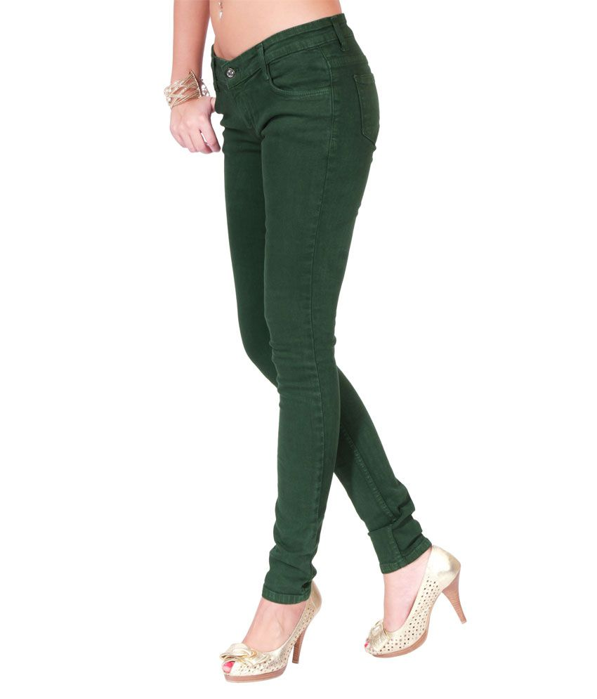 fdff3398875 Buy 20D Forest Green Denim For Women Online at Best Prices in India ...