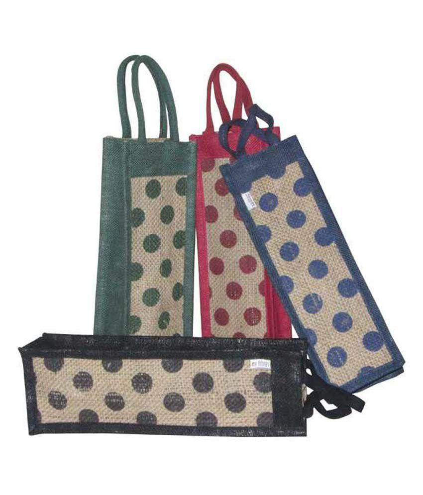 Earthbags Pack of 4 Bottle Bags