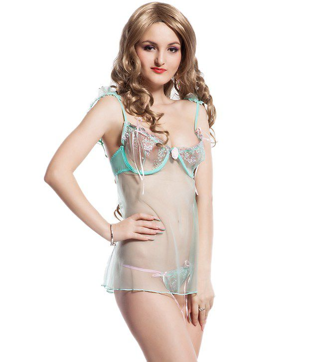 N-Gal Green Lace Knitted Free Size
