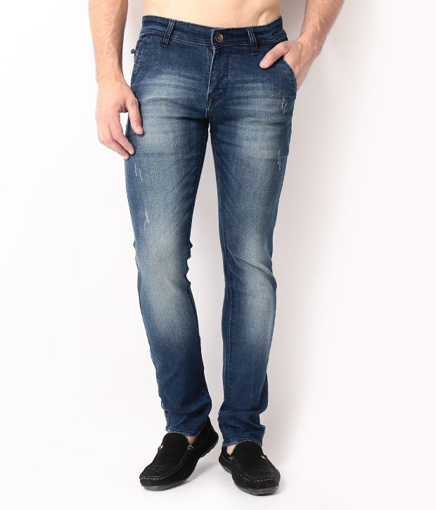 DesignRoadies Blue Slim  Jeans
