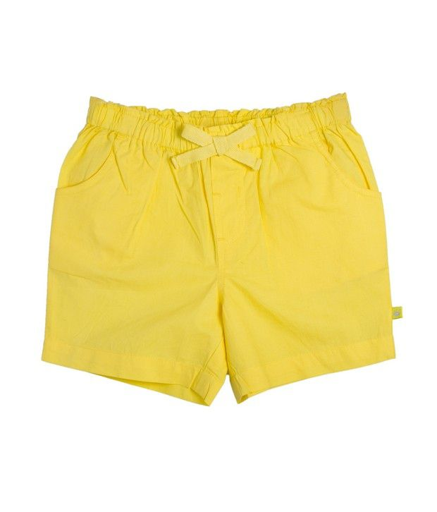 FS Mini Klub Yellow Basic Woven Shorts For Kids