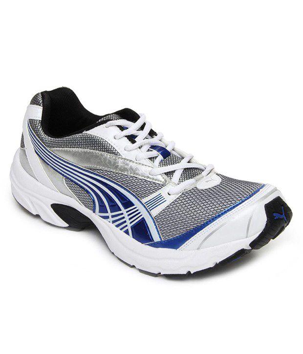 velocity white running shoes