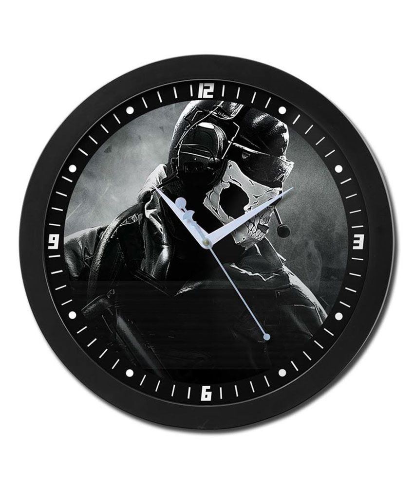 Bluegape Call of Duty Ghost Mask Glass Wall Clock: Buy Bluegape ...