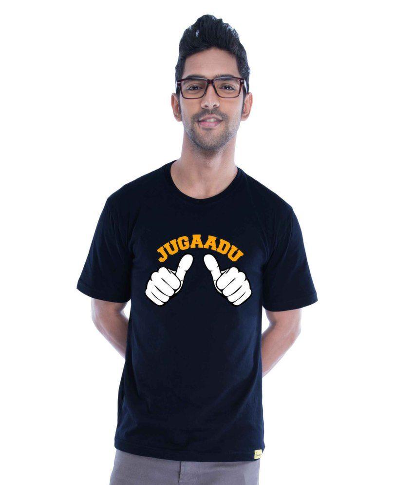 Jugaadu (new) Cotton Navy Blue   T-Shirt