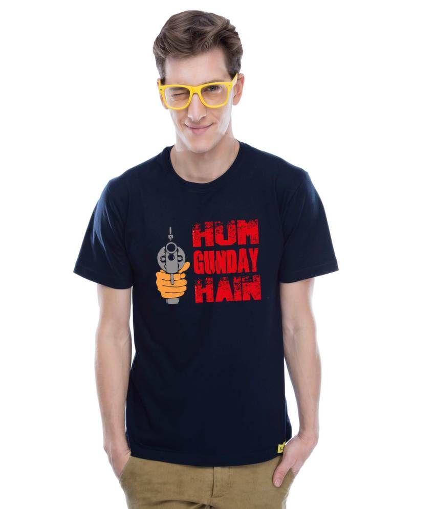 Hum Gunday hai (Navy Blue)   Cotton Navy Blue T-Shirt