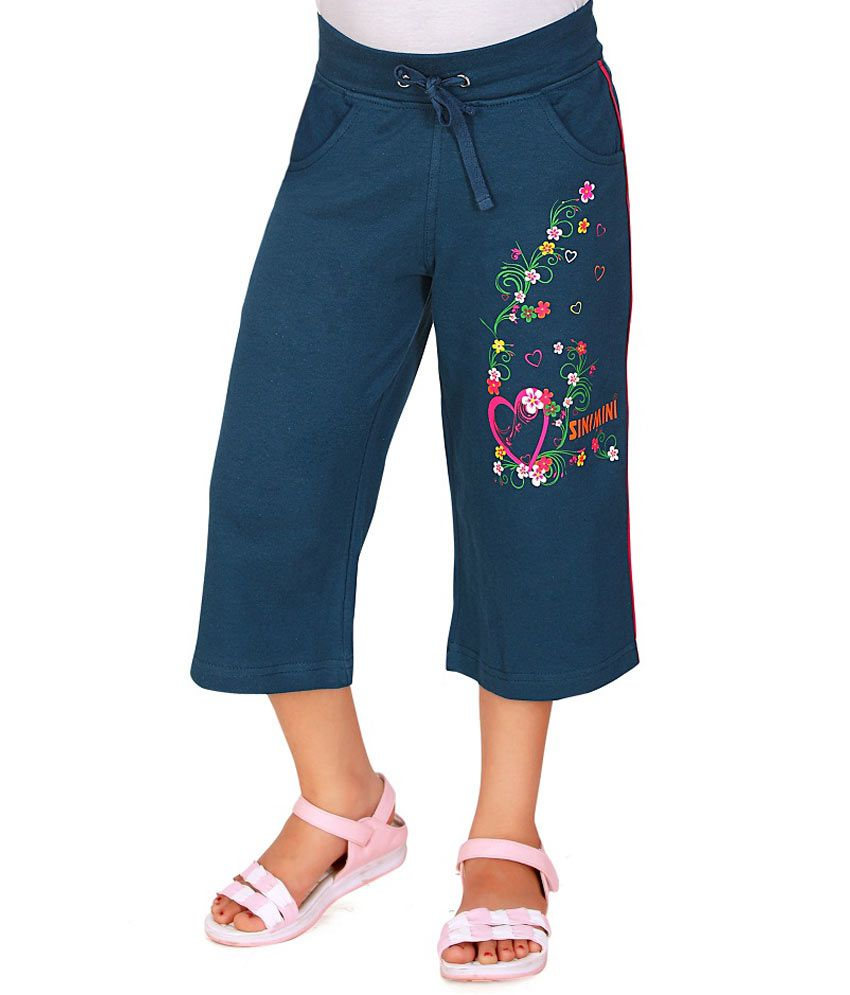 Sini Mini Blue Capris For Girls