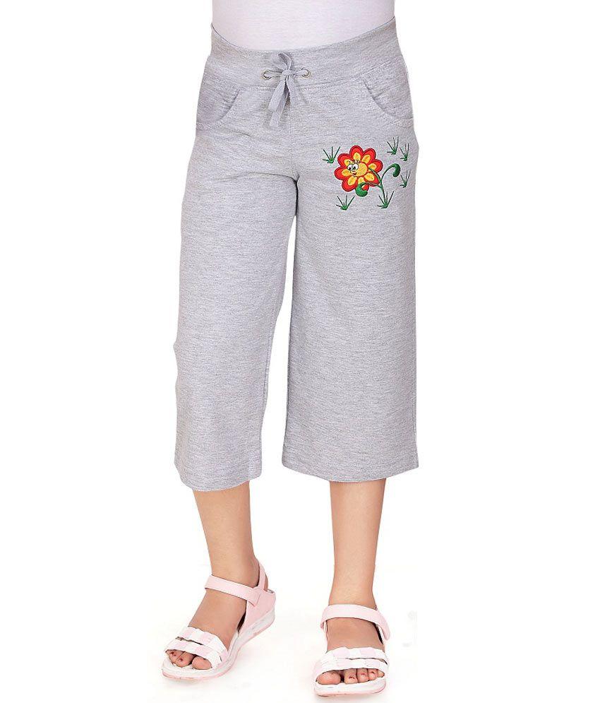 Sini Mini Gray Capris For Girls