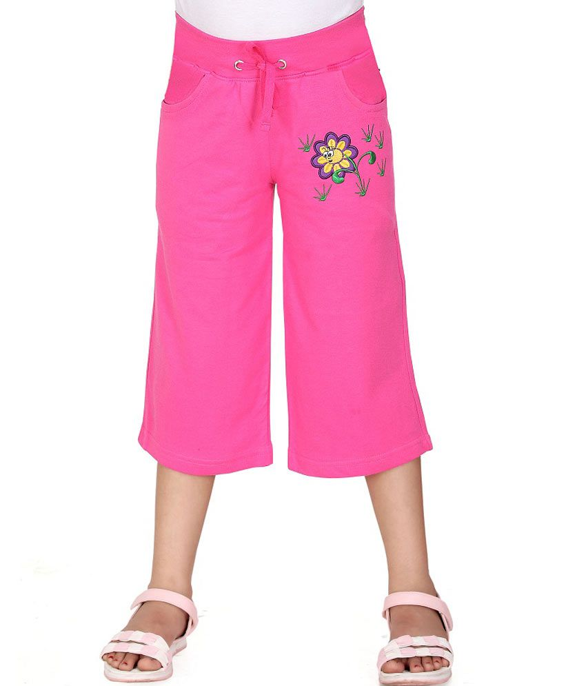 Sini Mini Pink Capris For Girls