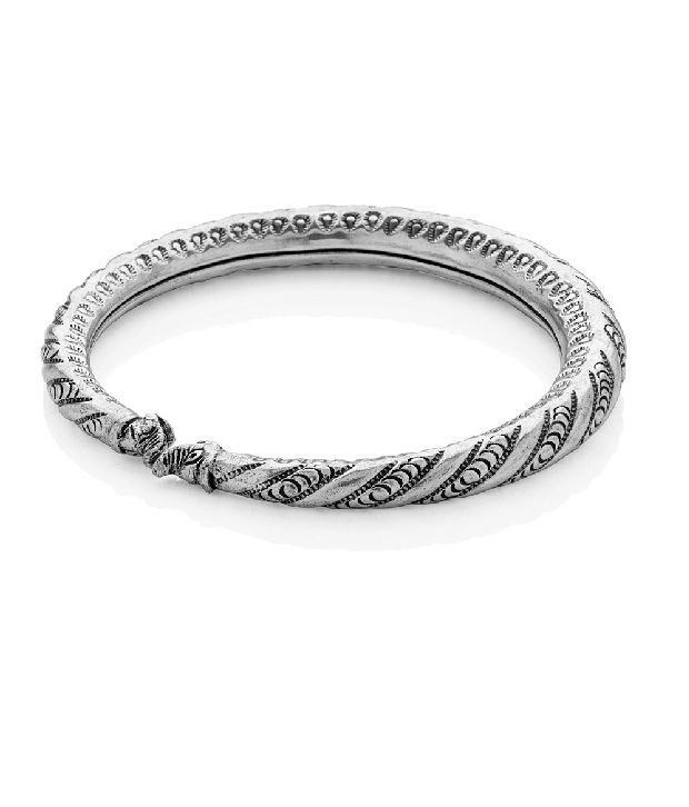 Voylla Metal Alloy Anklet With Oxidized Plating, Hasli Pattern