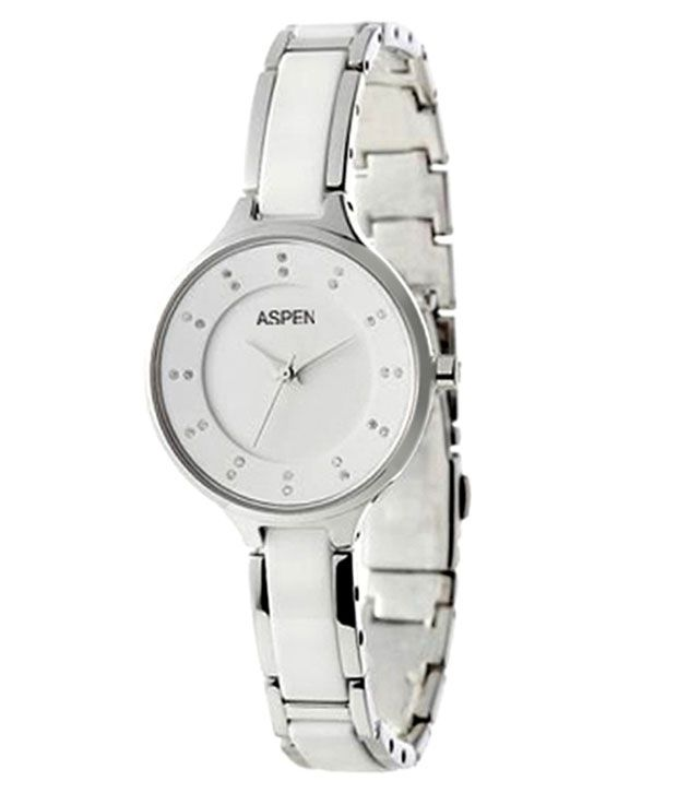 Aspen Women's Silver Color Analog Watch