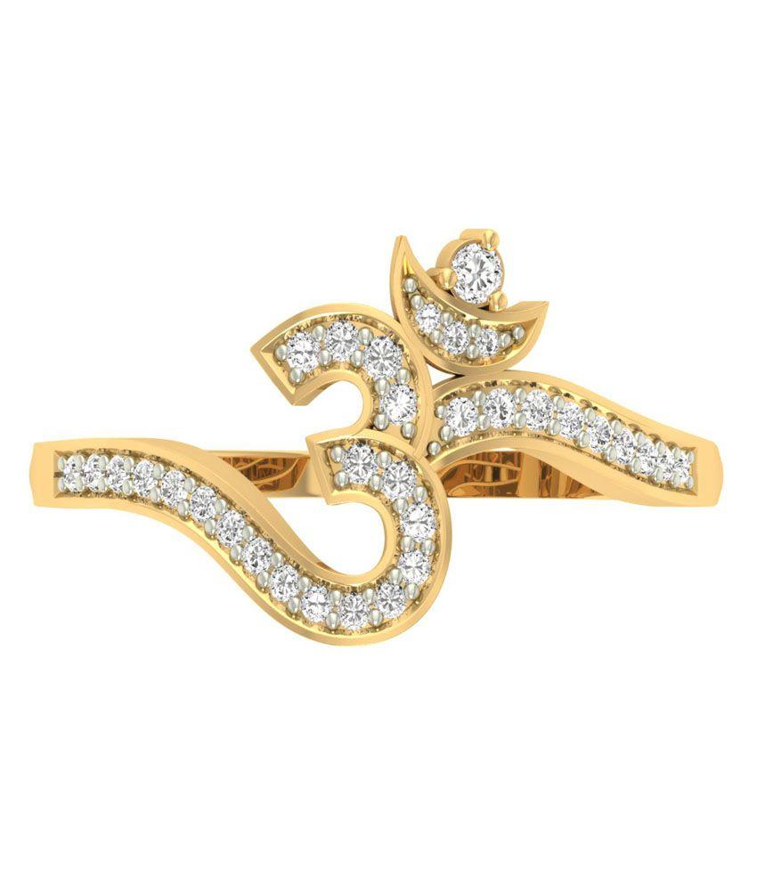 Jewels5 Om Design Gold Ring: Buy Jewels5 Om Design Gold Ring ...