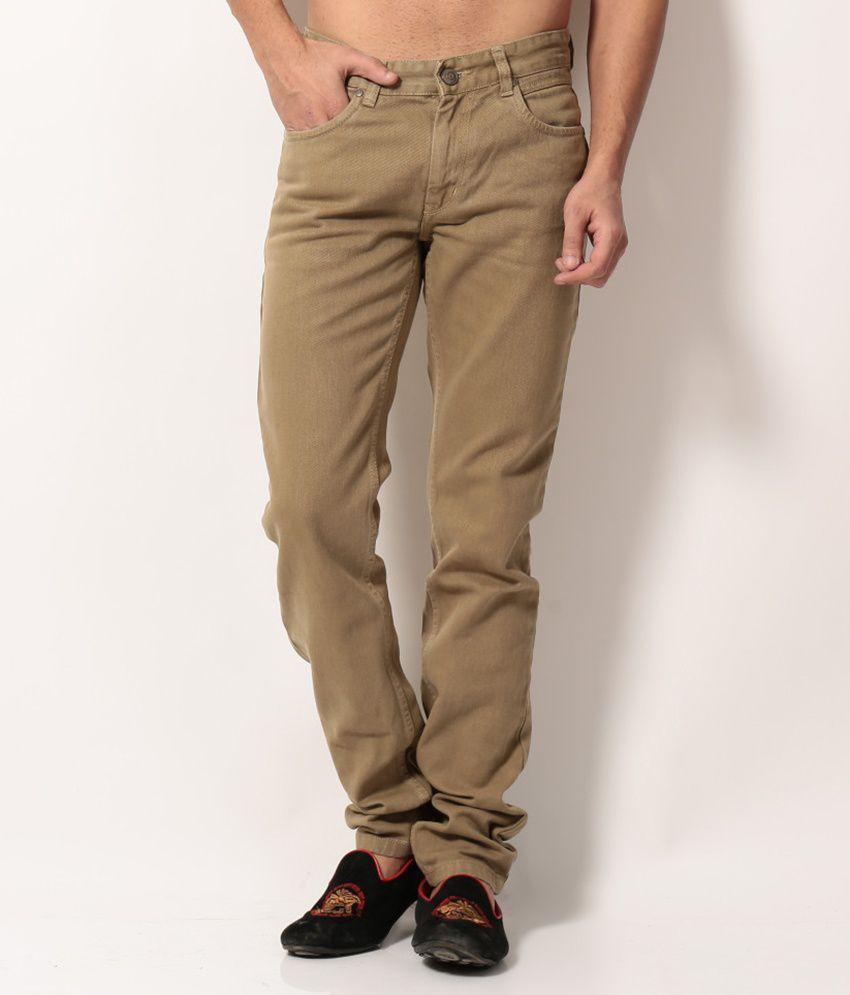 Monte Carlo Khaki Regular  Jeans