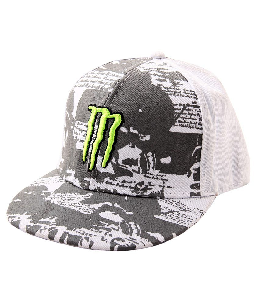 YO YO White   Grey Hip Hop Cap For Men - Buy Online   Rs.  45fba6af3fe