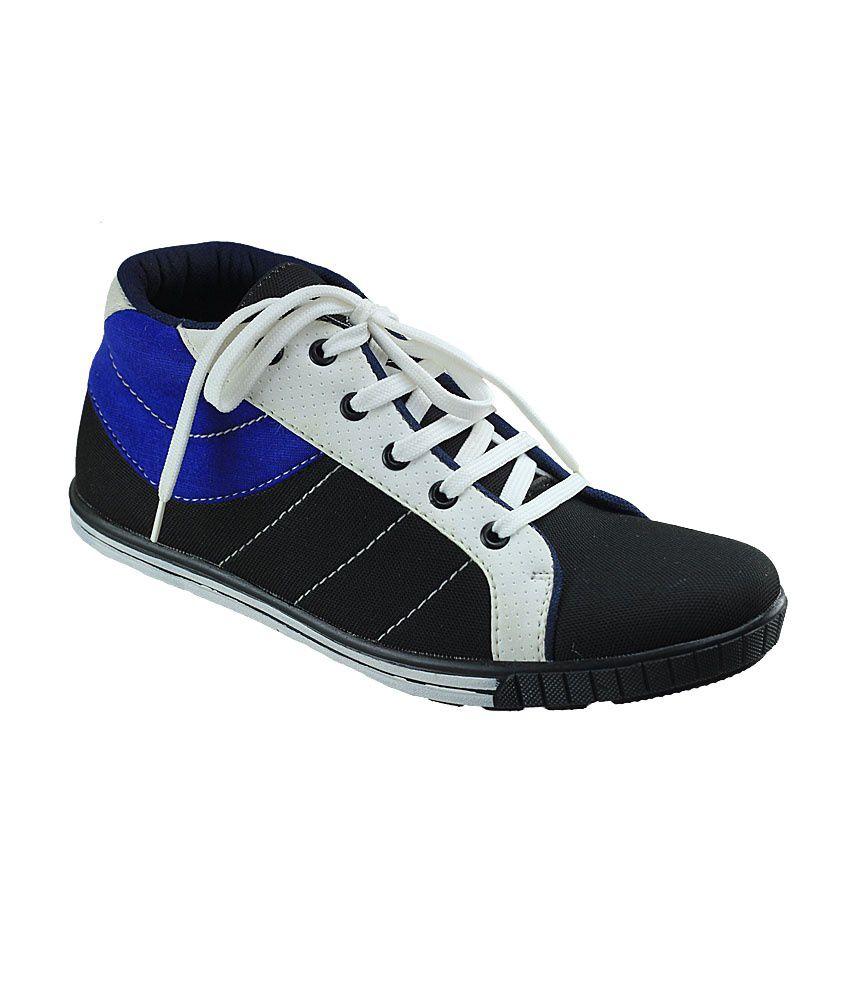 Dziner Black Sneaker Shoes