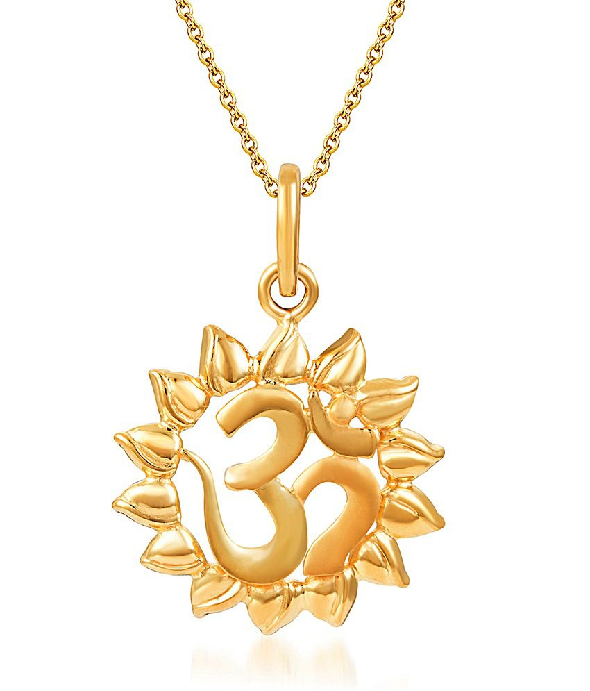 KaratCraft 22Kt Real Gold Hallmark Surya Pendant: Buy KaratCraft 22Kt ...