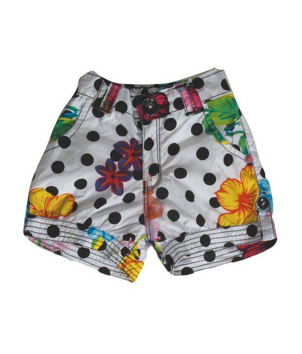 Vitamins Black Color Printed Shorts For Kids