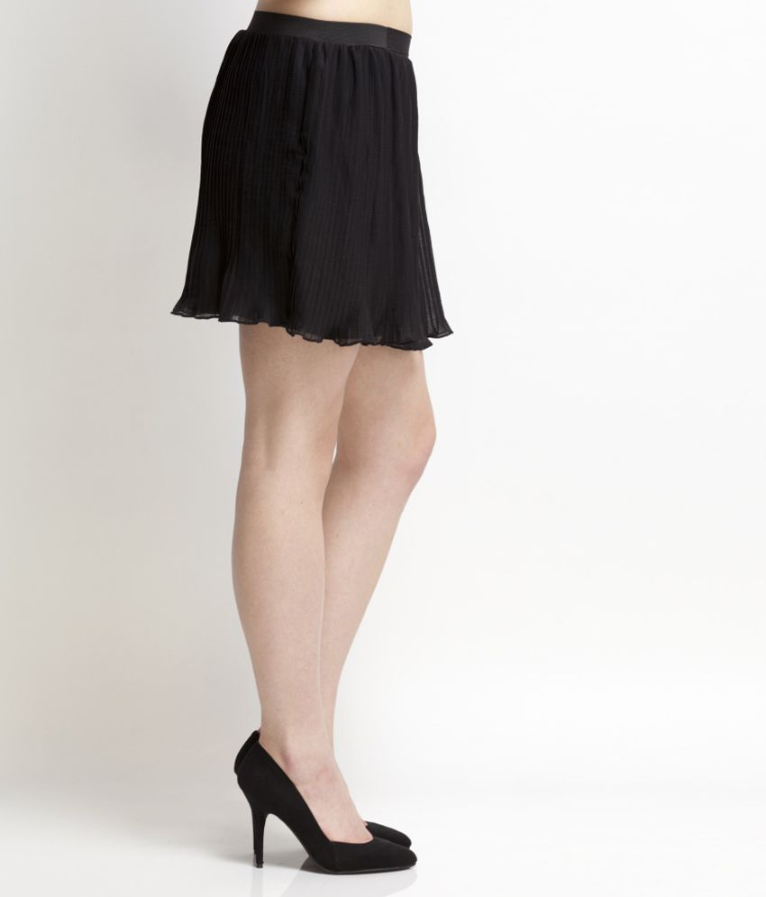 1f178c71b2f Buy Black Solids Polyester Short Skirt Online at Best Prices in India -  Snapdeal
