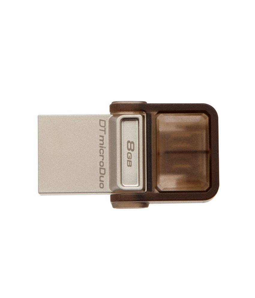Kingston Data Traveler MicroDuo 8 GB 2-in-1 Pen Drive