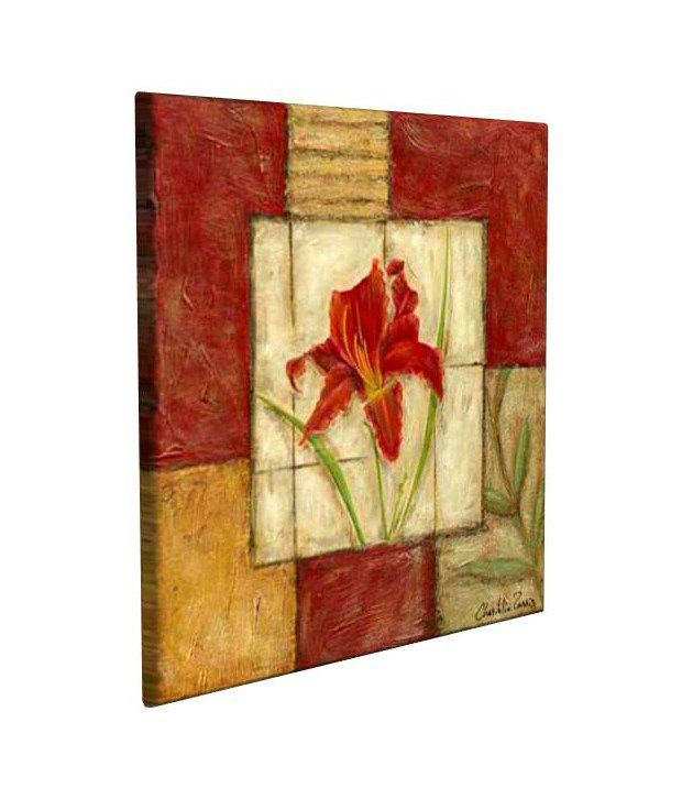 Artjini Flower Montage III Multicolour Canvas, Frame - Wood Paintings-Floral