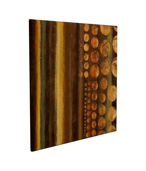 Artjini Telluric Multicolour Canvas, Frame - Wood Paintings-Abstract