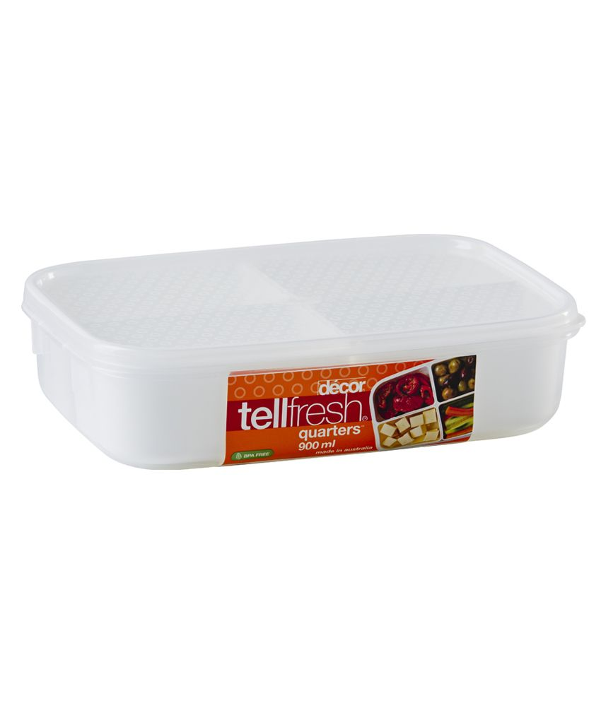 Decor Tellfresh Quarters Container 980 Ml Buy Online At Best Price