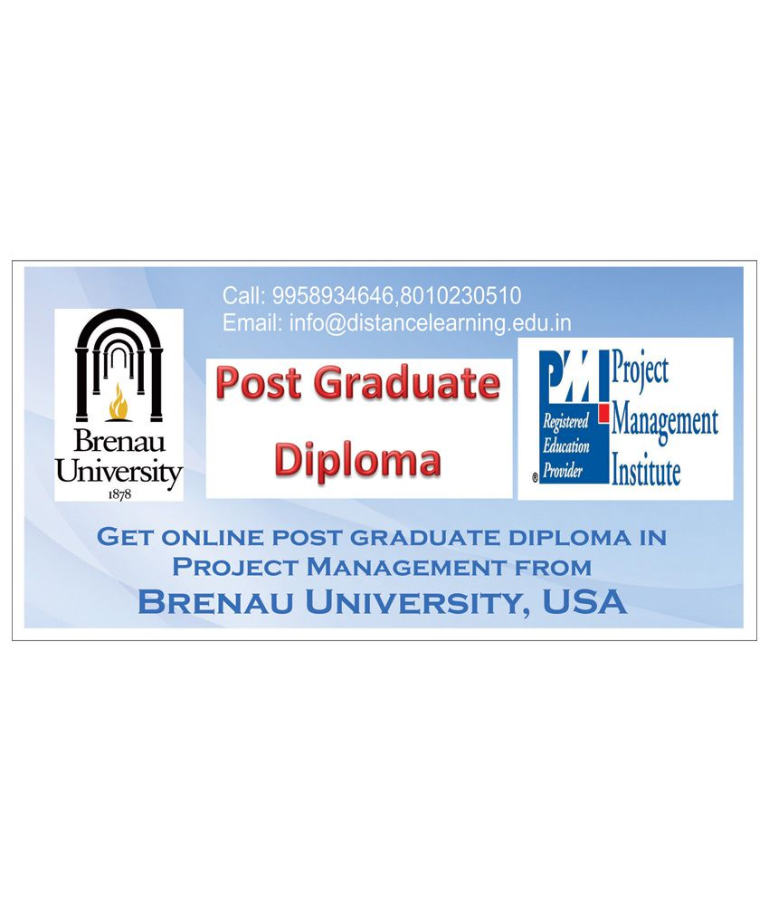 Post Graduate Diploma in Project Management (Brenau University,USA) by DLP India