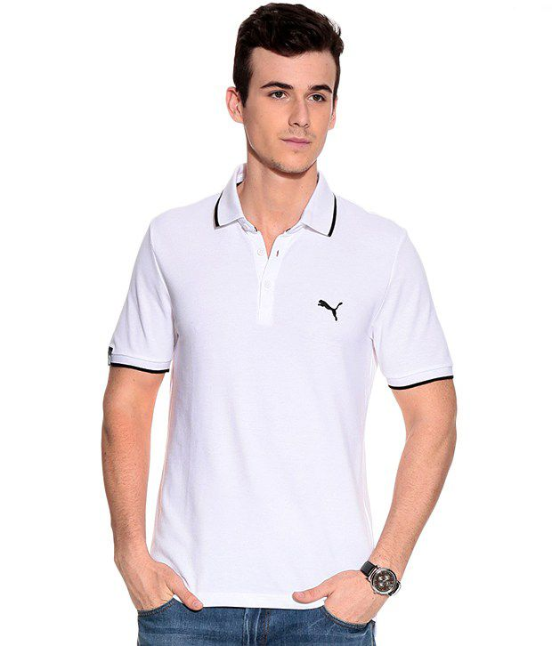 Puma SportsCasual Polo white-black