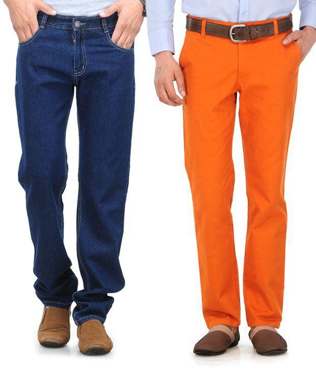 PHOENIX Navy Regular  Fit Jeans