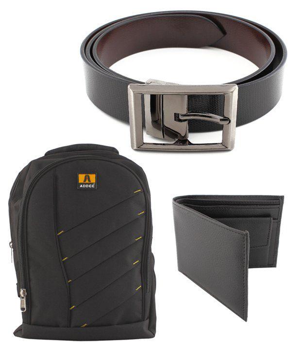 Coal Black Bag ,Belt   Wallet Gift Set For Men  Buy Online at Low Price in  India - Snapdeal 50f04954f2