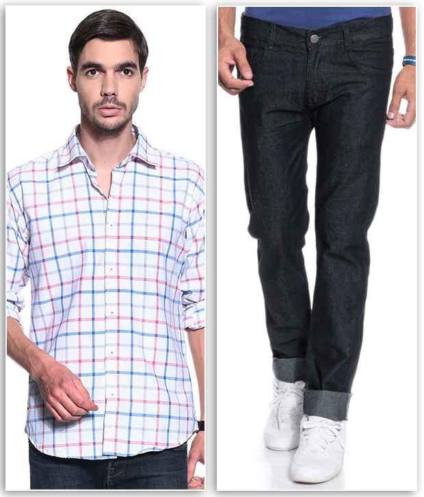 Coaster Black Regular  Fit Jeans