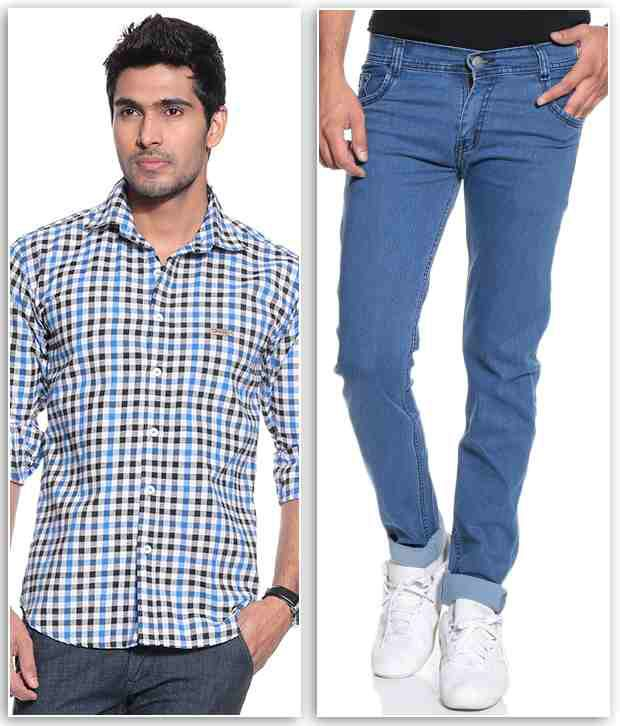 Coaster Blue Regular  Fit Jeans