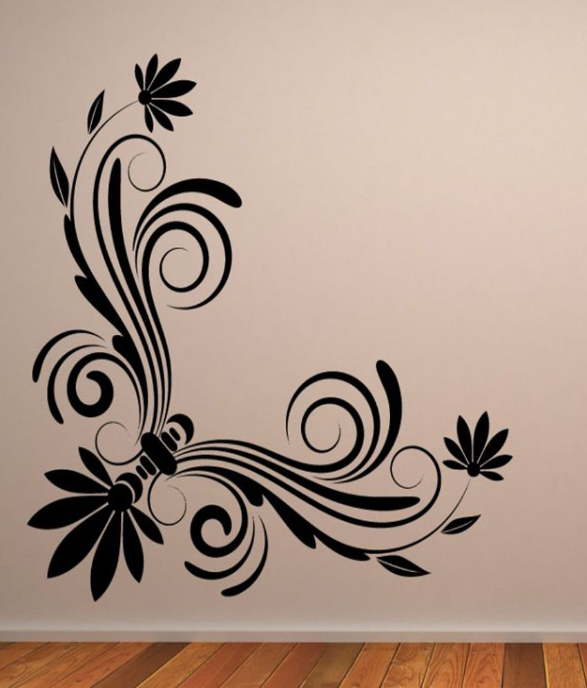 Floral Corner Wall Art One