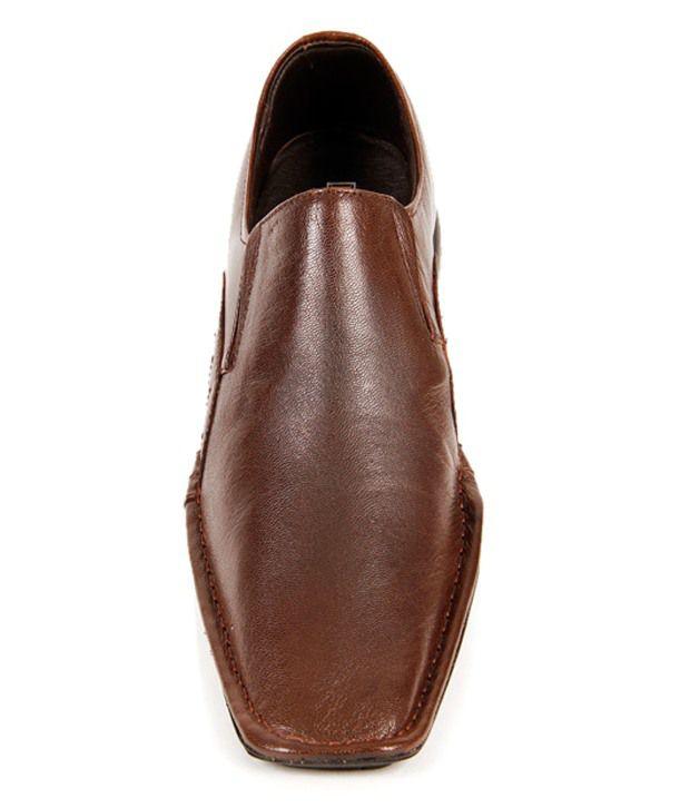 20a96b5368bd Franco Leone Brown Formal Shoes Price in India- Buy Franco Leone ...