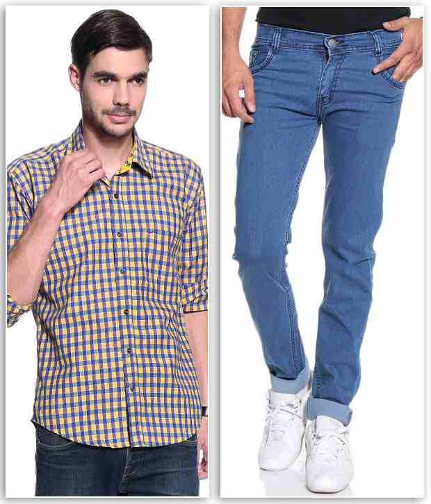 Coaster Combo of Jeans and Shirt for Men