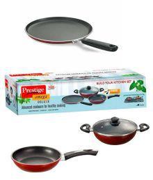 Prestige Omega Deluxe Cookware Set - 3 Pcs + 1 Lid