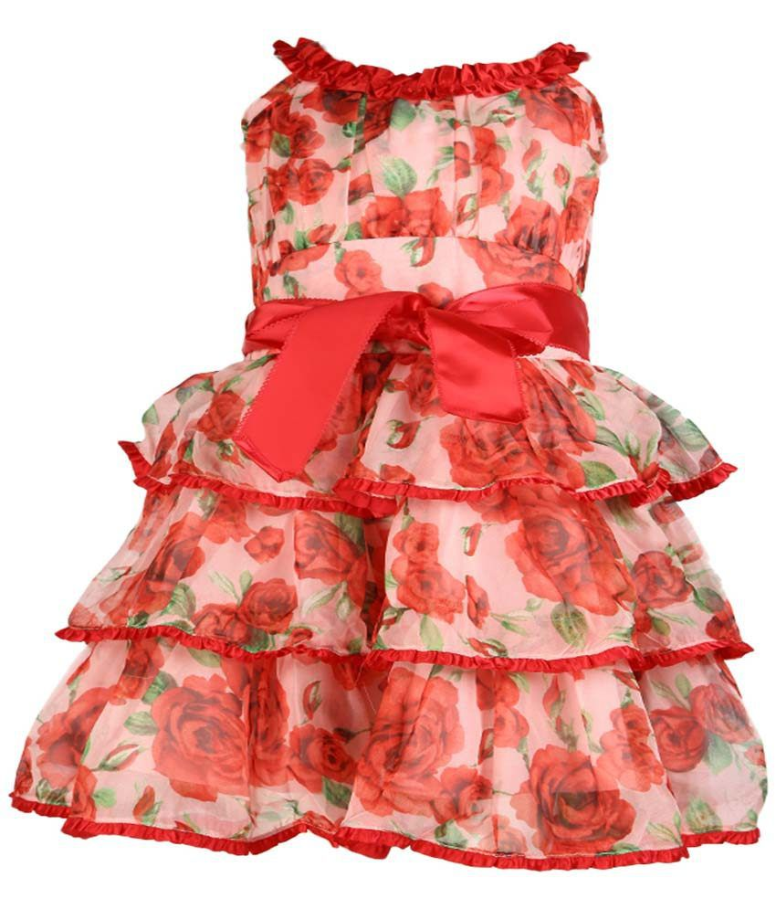 8455c8ee88e Cutecumber Red Frock For Girls - Buy Cutecumber Red Frock For Girls Online  at Low Price - Snapdeal