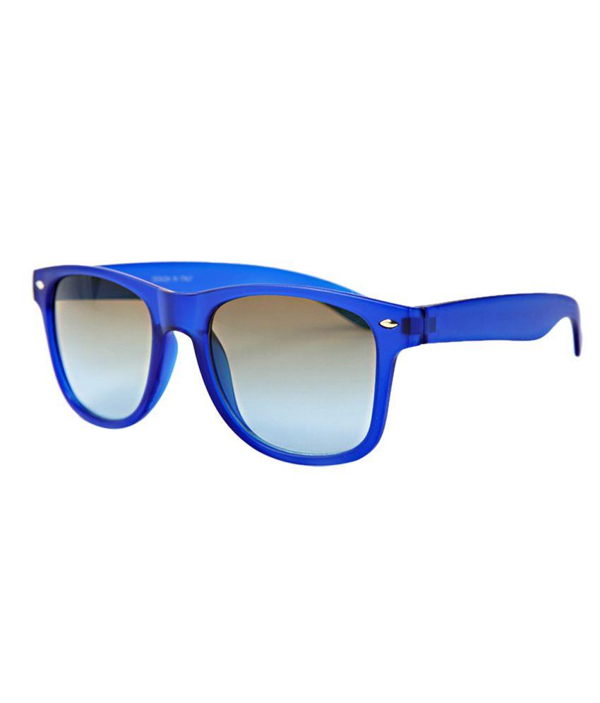 Foresight Opticals Fluxx Wayfarer Shape Plastic Sunglass of Blue Colour (Model 82231_BluGrnG)