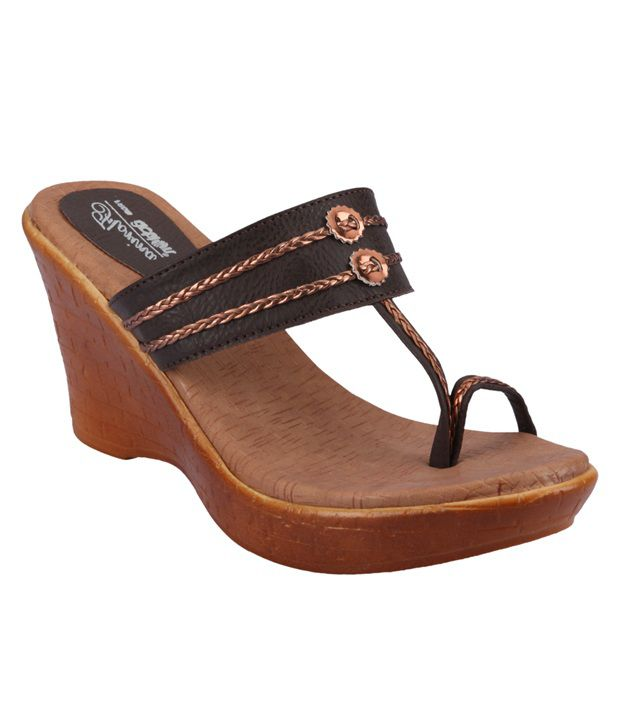 aea9c563fb Action Florina Brown Wedges For Women Price in India- Buy Action Florina  Brown Wedges For Women Online at Snapdeal