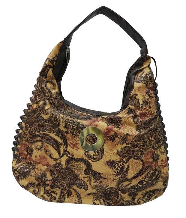 Indiana IND-902Beige Yellow Shoulder Bags